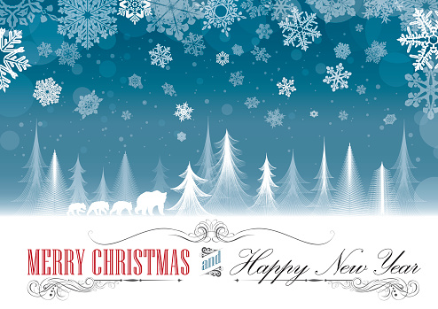 Christmas seasonal greeting card