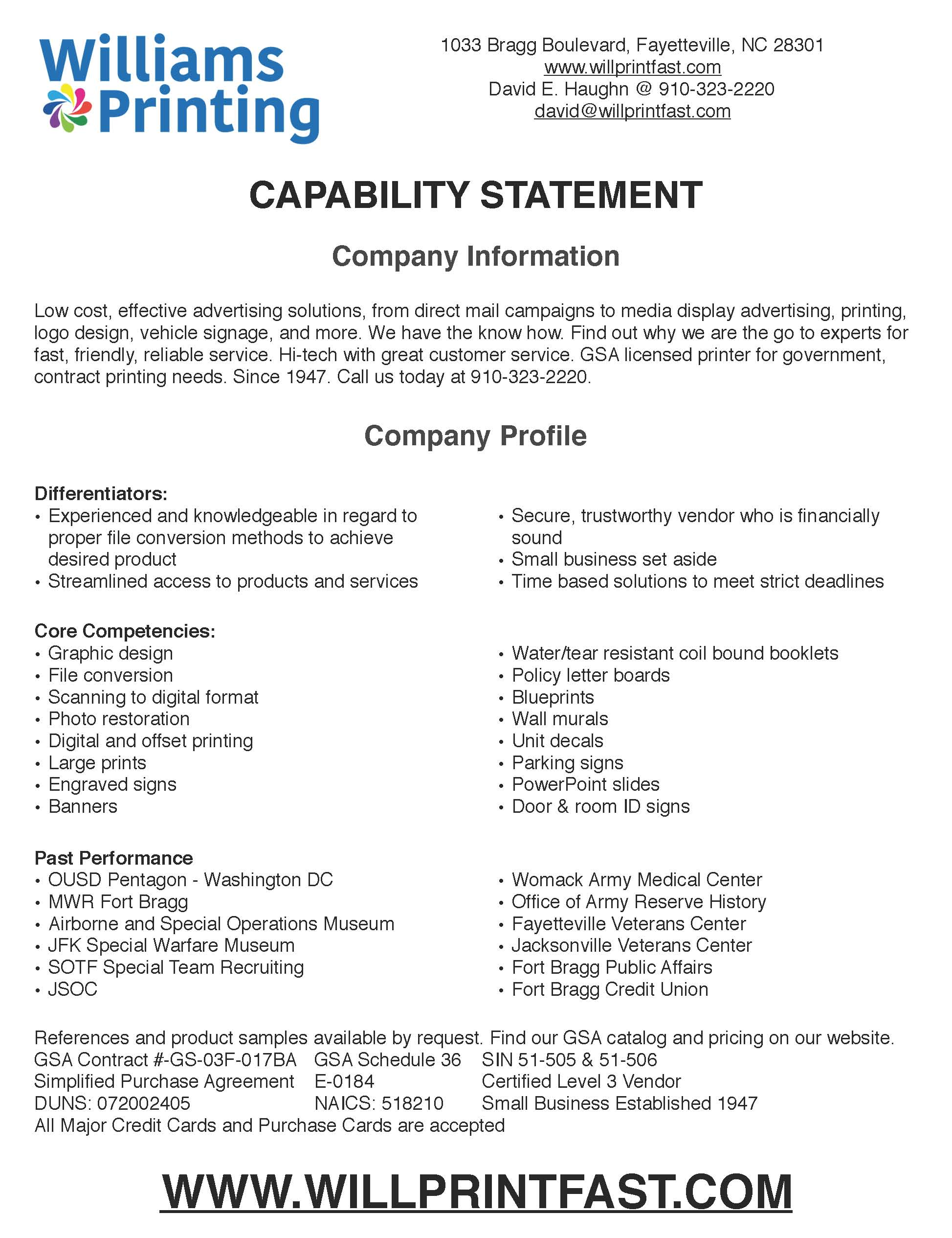 Gsa capability statement williams printing office supply click to go to our gsa catalog reheart Images